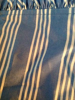 "Longaberger Sky Blue Stripe 45"" Fabric Square"