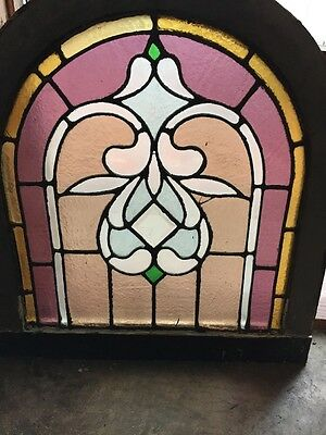 Sg 903 Antique Arch Top Stainglass Window
