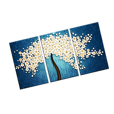 Set of 3pcs WHITE ORCHIDS Canvas Print Wall Art Painting Picture Home Decor