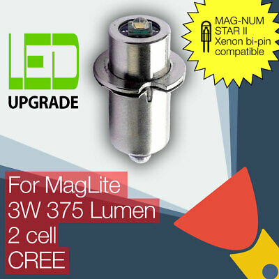 MagLite LED Conversion/upgrade bulb MAG-NUM STAR II bi-pin 2D/2C Cell CREE XP-G2