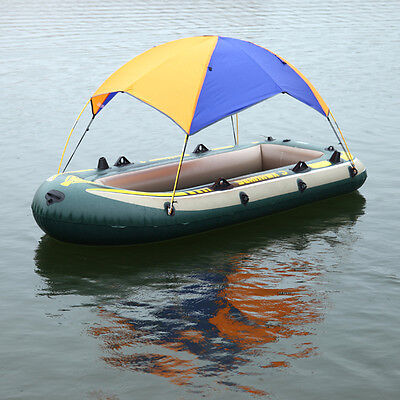 Inflatable Boat Rubber Sun Shelter Foldable Fishing Tent Sunscreen 4 Person U