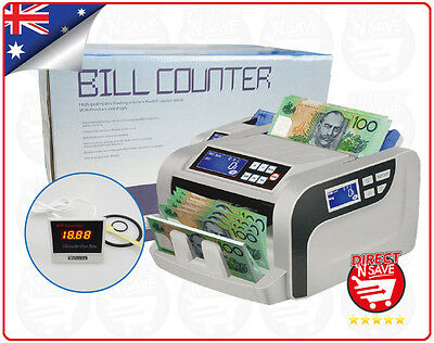 Bill Counter 1000 Notes/pm Auto Counterfeit Fake Note Detection Multi-Currency