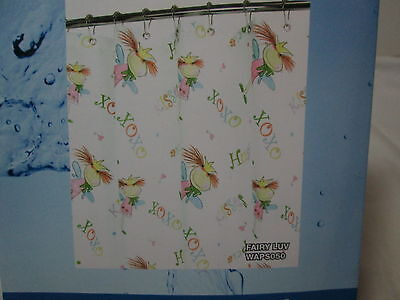 NEW Park Smith Watershed Single Solution Shower Curtain FAIRY LUV Multi Colors