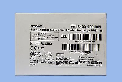 5100-060-001: Stryker Zyphr Cranial Perforator, Large 14/11mm (x)