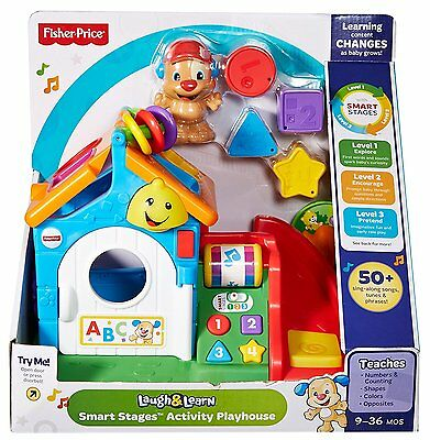 Fisher-Price Laugh & Learn Smart Stages Activity Play House    9-36 mos   New
