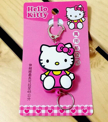 Official Sanrio  Hello Kitty  Cute Retractable Key Chain - Pink Color