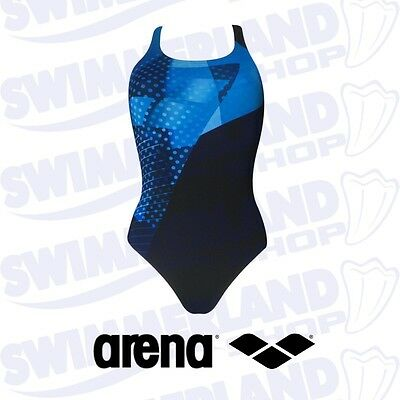 *NEW* Arena Himmel Woman One Piece Swimming Suit Black/Turquoise Swimsuit BNWT