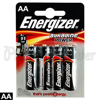 4 x Energizer AA Alkaline Power Max batteries 1.5V LR6 MN1500 MIGNON EXP:2025