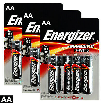 12 x Energizer AA Alkaline Power Max batteries 1.5V LR6 MN1500 MIGNON EXP:2025
