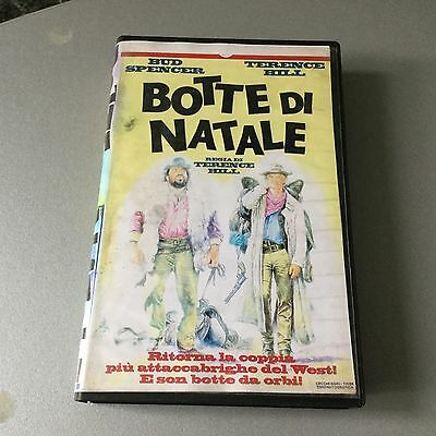 VINTAGE Anni 80# VHS VIDEOCASSETTA BUD SPENCER TERENCE HILL#BOTTE DI NATALE