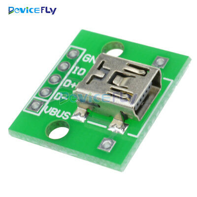 5PCS Power Supply Mini USB to DIP Adapter Converter for 2.54mm PCB Board DIY