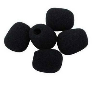 Black 5PCS Mic Microphone Windscreen Soft Foam Mic Cover Sponge Skin 45x12mm