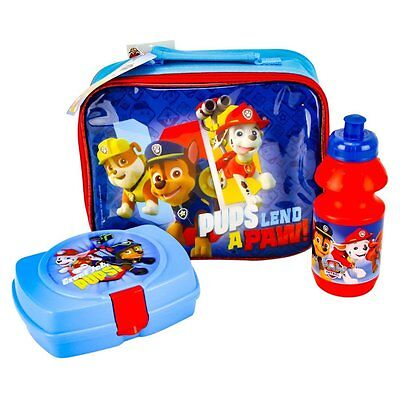 Nickelodeon Paw Patrol Set of 3 - Lunch Bag With Snack Box and Water Bottle