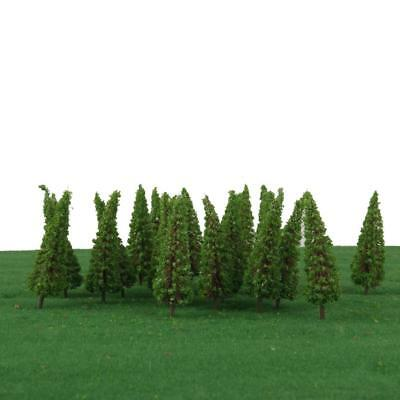 50x Trees Model Train Railroad Wargame Garden Forest Scenery Landscape HO OO