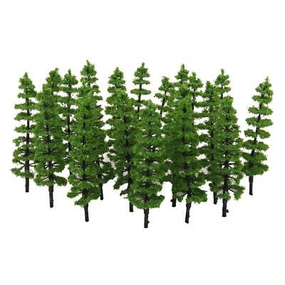 20 Pine Trees Model 9cm Train Railway Forest Landscape Spring Scenery Layout