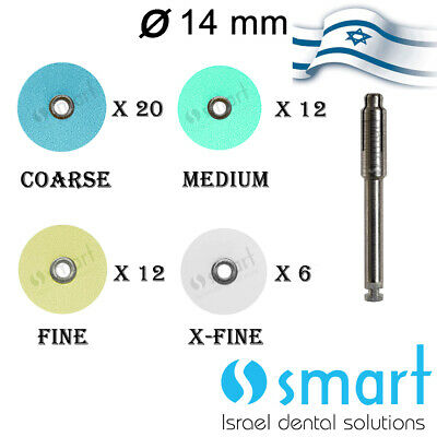 Dental Composite Finishing Polishing Discs assorted kit 50 pcs + mandrel 12.7 mm