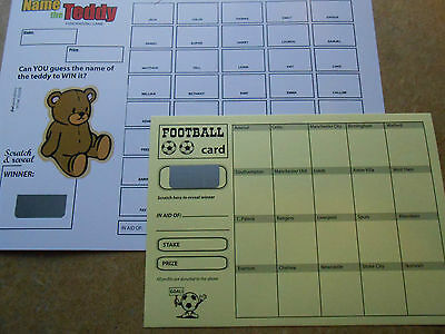 Name The Teddy Scratch Card ( 40 Spaces) -Coloured= Raise Funds = One Card Only