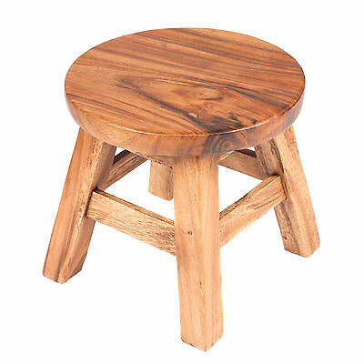 Fair Trade Childs Childrens Plain Wooden Stool - Side Table