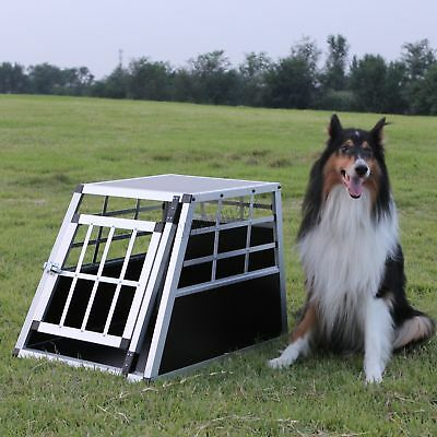 FoxHunter Aluminium Dog Pet Cage Kennel Small Transport Crate Carrier BOX 1 Door