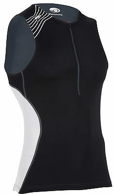blueseventy TX1000 Singlet Triathlon Mens Black/White/Grey