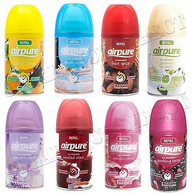 6 X Airpure Freshmatic Automatic Spray Refills 250Ml Freshener Home Airwick