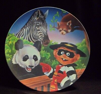 1996 Ronald Mcdonald Grimace With Zoo Animals Collector Plate