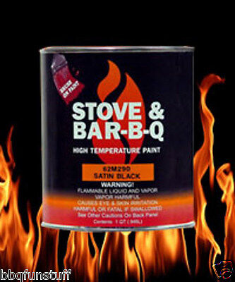 Stove Bright Fireplace Stove High Temp 1 Pint Brush On Paint Satin Black 62M290