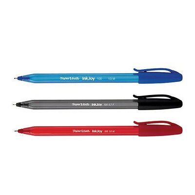 Papermate Inkjoy 100 Ink Pens 1.0mm Ballpoint Medium Nib Home School Work