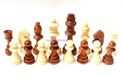 "New Wooden Chess Set 32 Pieces - King 3 1/2"" (Pieces Only) Total Weight 300g"