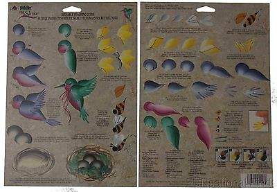 FolkArt One Stroke Reusable Paint Teaching Guide Lot 36 Natures Critters 1113
