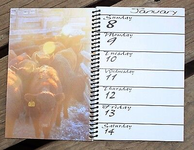2017 Western Datebook Wyo Cowboy Photography Scripture Work Cowboy Horseman