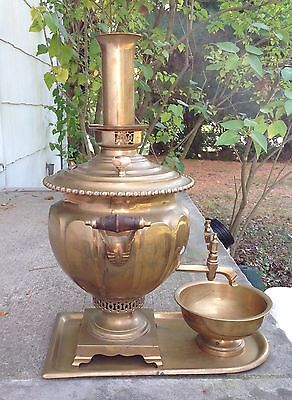 Antique Russian Brass Samovar Н.А. ВОРОНЦОВА В ТУЛЕ, Tombak.