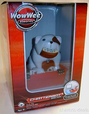 WowWee Robotics Chatterbot Dog Cat Animated Computer Personality USB Speaker Toy