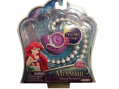 New Disney The Little Mermaid Musical Pearl Shell Necklace