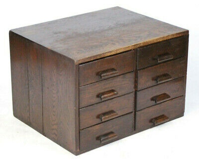 Antique GEORGE V GRV  Library File Index Card Cabinet - FREE Shipping [PL2629]