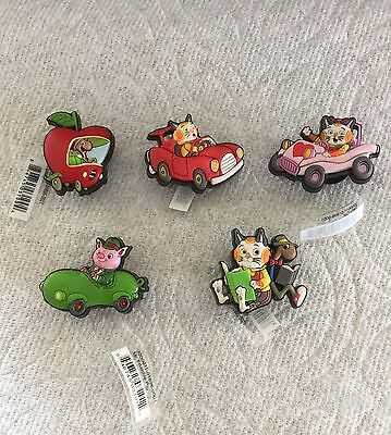 Richard Scarry Jibbitz Sally Cat Huckle & Lowly Mr. Frumble Shoe Charm Fit Crocs