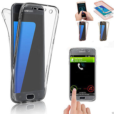 360° Silicone Clear Protective Shockproof Case Cover For Samsung Galaxy Models
