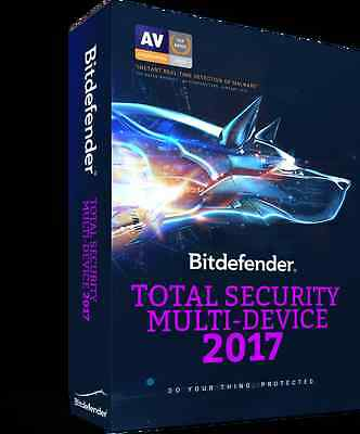 Bitdefender Total Security Multi-Device 2016 2017 5 Users 1 Year Key 100%GENUINE