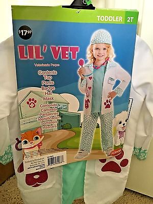 Brand New Toddler Girls Little Vet Goodmark Halloween Costume, Size 2T