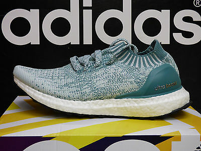 NEW ADIDAS Ultra Boost Uncaged Women's Running Shoes - Crystal/Green; BB3905