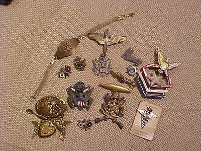 Original Wwii Us Big Lot Of Sweetheart Pins - Some Sterling