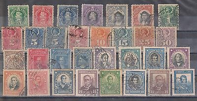 (STF-91) 1901-3 Chile mix of 31 1c to 50c