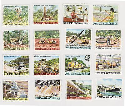 (STE-26) 1980-81 Christmas Island 4 sets 16 stamps phosphate Industry MH