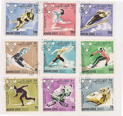 (STF-123) 1968 MAHARA State 9stamps winter Olympics