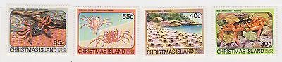(STE-33) 1984 Christmas Island 4set red land crabs MH