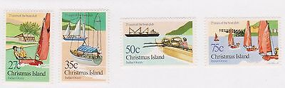 (STE-27) 1983 Christmas Island 4set 25th anniversary of boat clubs MH