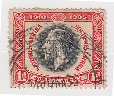 (STF-42) 1935 South Africa 1d silver jubilee
