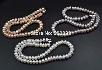 wholesale lots 12 strands white pink lavender cultured pearl necklace 8-9mm
