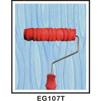 """7"""" Embossed Tree Stem Skin Painting Roller with Handle Brush Wall Decoration"""