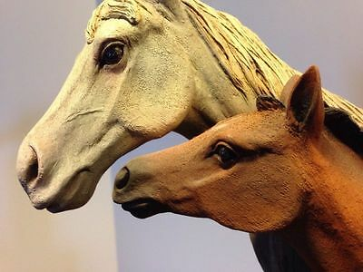 """Rare Neil J Rose Sculpture """"well-Bred"""" L. Ed. Low Number 324 / 2500 Pecan Wood"""